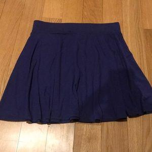 Flowy Short Blue Circle Skirt